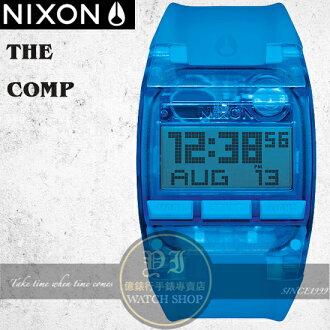 NIXON 實體店The COMP浪花潮流腕錶ALL COBALT BLUE 公司貨A408-2041/極限運動