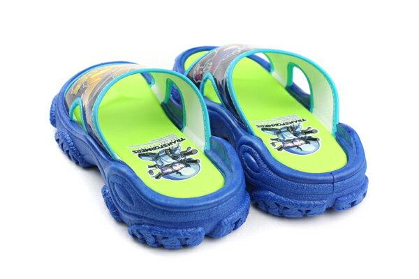 變形金鋼 TRANSFORMERS 大黃蜂 柯博文 拖鞋 好穿 防水 雨天 舒適 藍色 中童 TF10091 no706 1