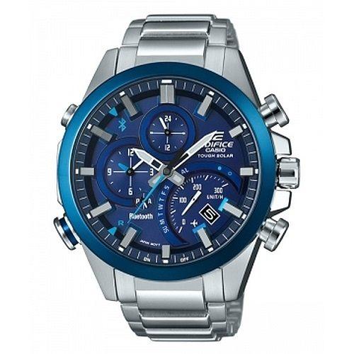 CASIO EDIFICE EQB-500DB-2A太陽能藍牙指針腕錶/藍面48mm