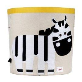 【淘氣寶寶】加拿大 3 Sprouts 收納籃-小斑馬【超大容量摺疊好收納,100%棉帆布手感柔軟耐抗污】【 貨】
