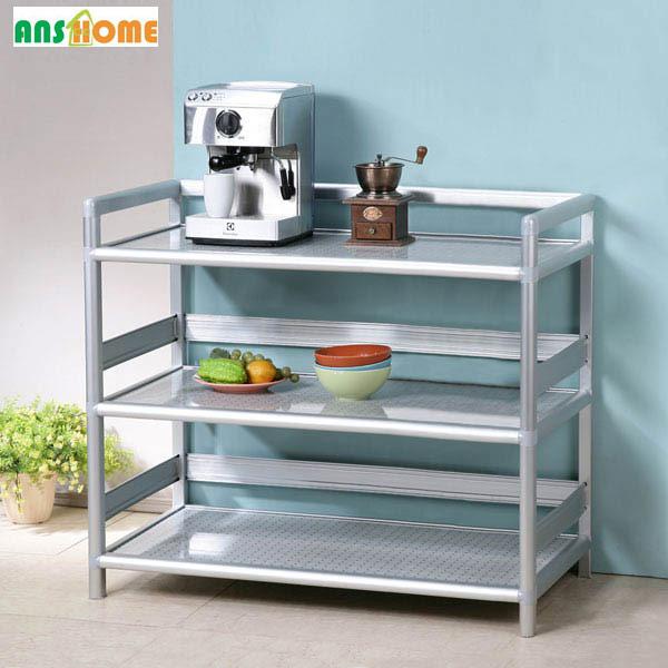 《TWOTONE》鋁合金開放式三層餐廚收納櫃(90cm)
