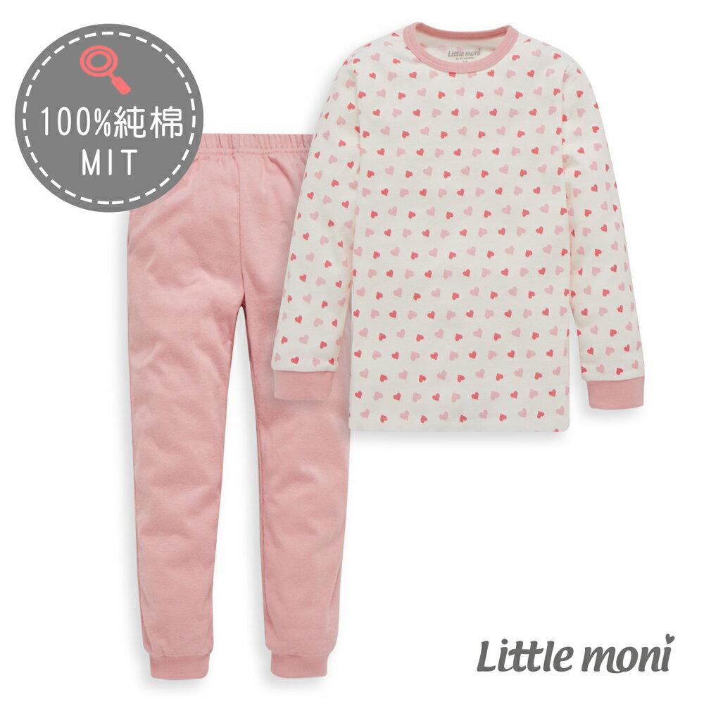 Little moni 純棉家居系列印圖成套睡衣-熱情粉(好窩生活節) - 限時優惠好康折扣