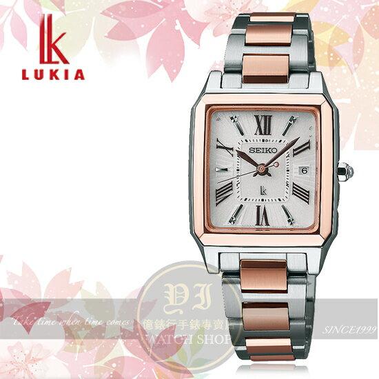 SEIKO日本精工LUKIA林依晨代言復古雅致太陽能電波時尚腕錶1B22-0CF0KS/SSVW098J公司貨