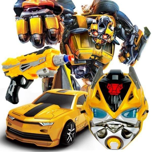 變形 金剛 大黃蜂/擎天柱 手動模型 汽車 機器人 玩具【Miss Sugar】【D900003】