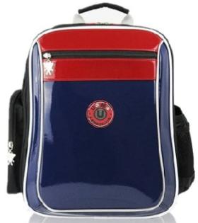 X射線 精緻禮品:X射線【C3257N】UnMe多色鏡面防水書包後背包(深藍)3257台灣製造,開學必備護脊書包書包後背包背包便當盒袋書包雨衣補習袋輕量書包拉桿書包