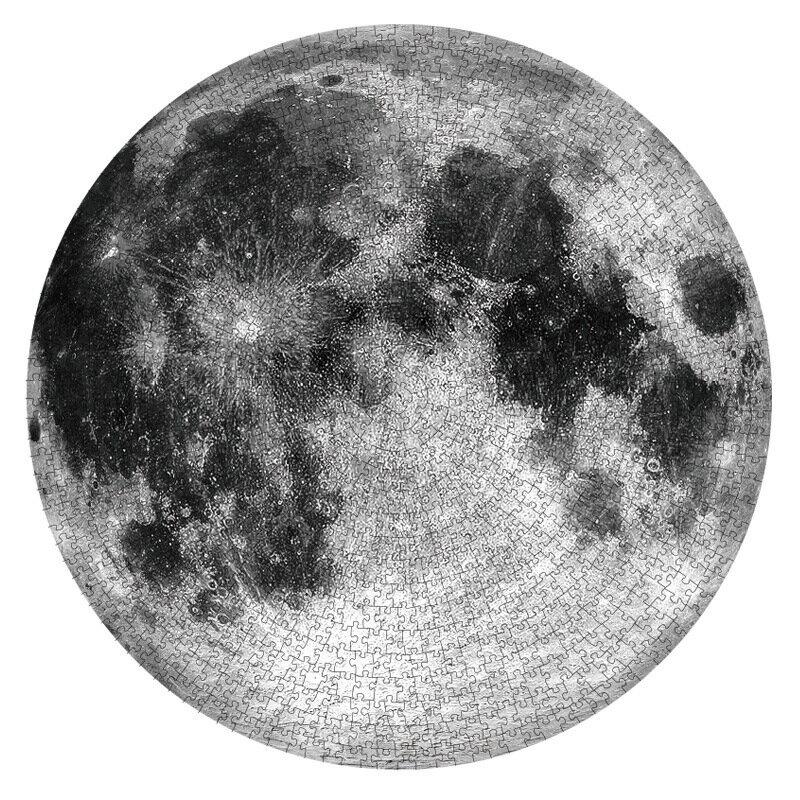 月球拼圖1000片成年減壓解悶大型月亮十二星座地球高難度手工立體