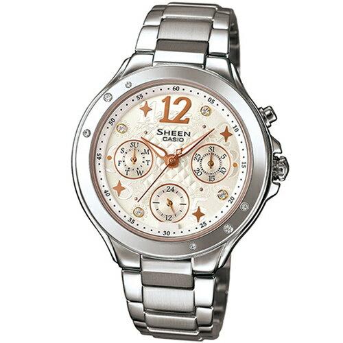 CASIO SHEEN SHE-3032D-7A繽紛時尚腕錶/膚色37mm