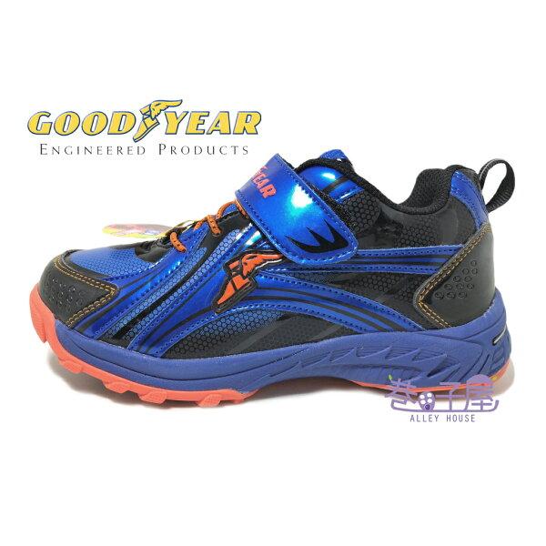 【巷子屋】GOODYEAR固特異童款魔動釘爪運動慢跑鞋[68566]科技藍超值價$398