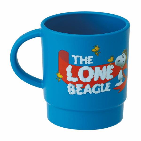 【真愛日本】 17083000011 塑膠馬克杯340ml-SN藍天 史奴比 史努比 SNOOPY 馬克杯 水杯 杯子