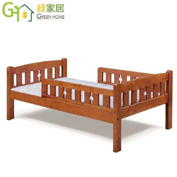 【綠家居】佛爾時尚3.5尺實木單人床台(不含床墊)