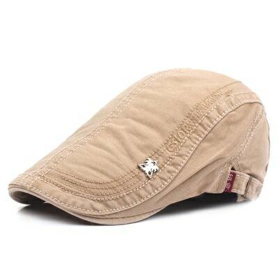貝雷帽鴨舌帽-棉質春夏薄款徽章男女帽子6色73tv101【獨家進口】【米蘭精品】