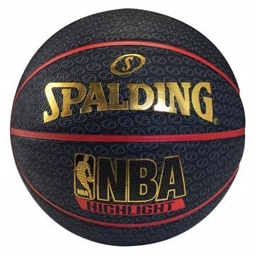 【H.Y SPORT】斯伯丁SPALDING Highlight Rubber 籃球 7號 紅#SPA73904
