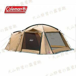 【露營趣】中和安坑 Coleman CM-31571 TOUGH SCREEN 2-ROOM 帳篷 4-5人帳 網屋 家庭帳 客廳帳 別墅帳 一房一廳
