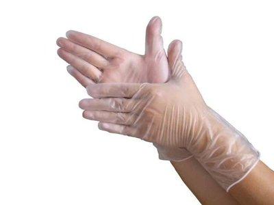 永大醫療~PVC無粉顆粒手套/止滑不怕流汗~厚款~100入/160元10盒免運~食用包裝最適合