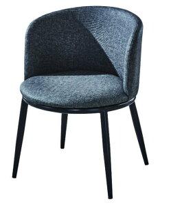 尚品傢俱:【尚品傢俱】JF-486-4喬依斯鐵藝皮餐椅(黑皮)