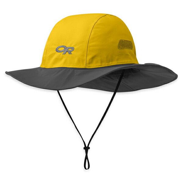 【鄉野情戶外專業】 Outdoor Research |美國| Seattle Sombrero GTX 防水圓盤帽/Gore-Tex 登山帽 健行帽 防曬帽 遮陽帽-黃灰/,243505