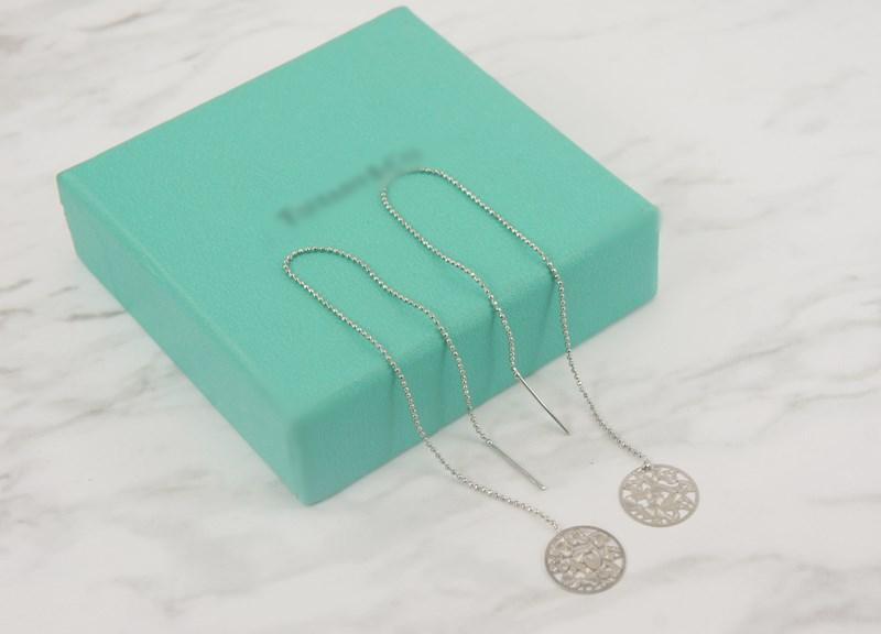 2385865愛心刻紋簍空圓片活動式金屬鍊條耳環、耳扣、耳勾、耳針、耳飾
