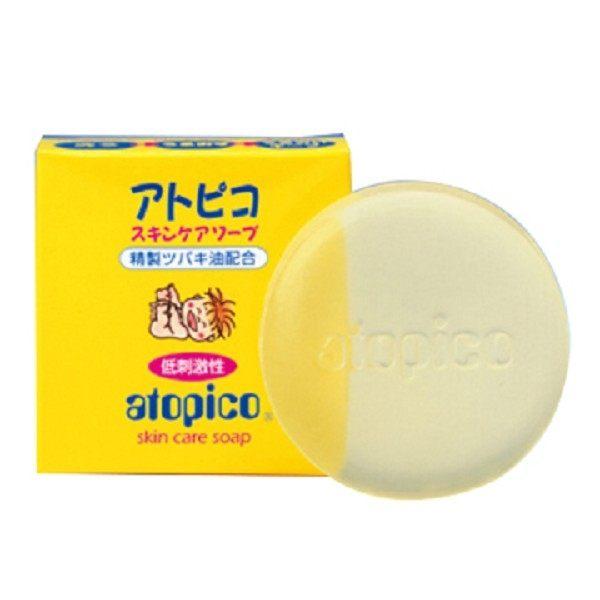 大島椿Atopico頂級嬰兒潤膚精油皂80G盒◆德瑞健康家◆