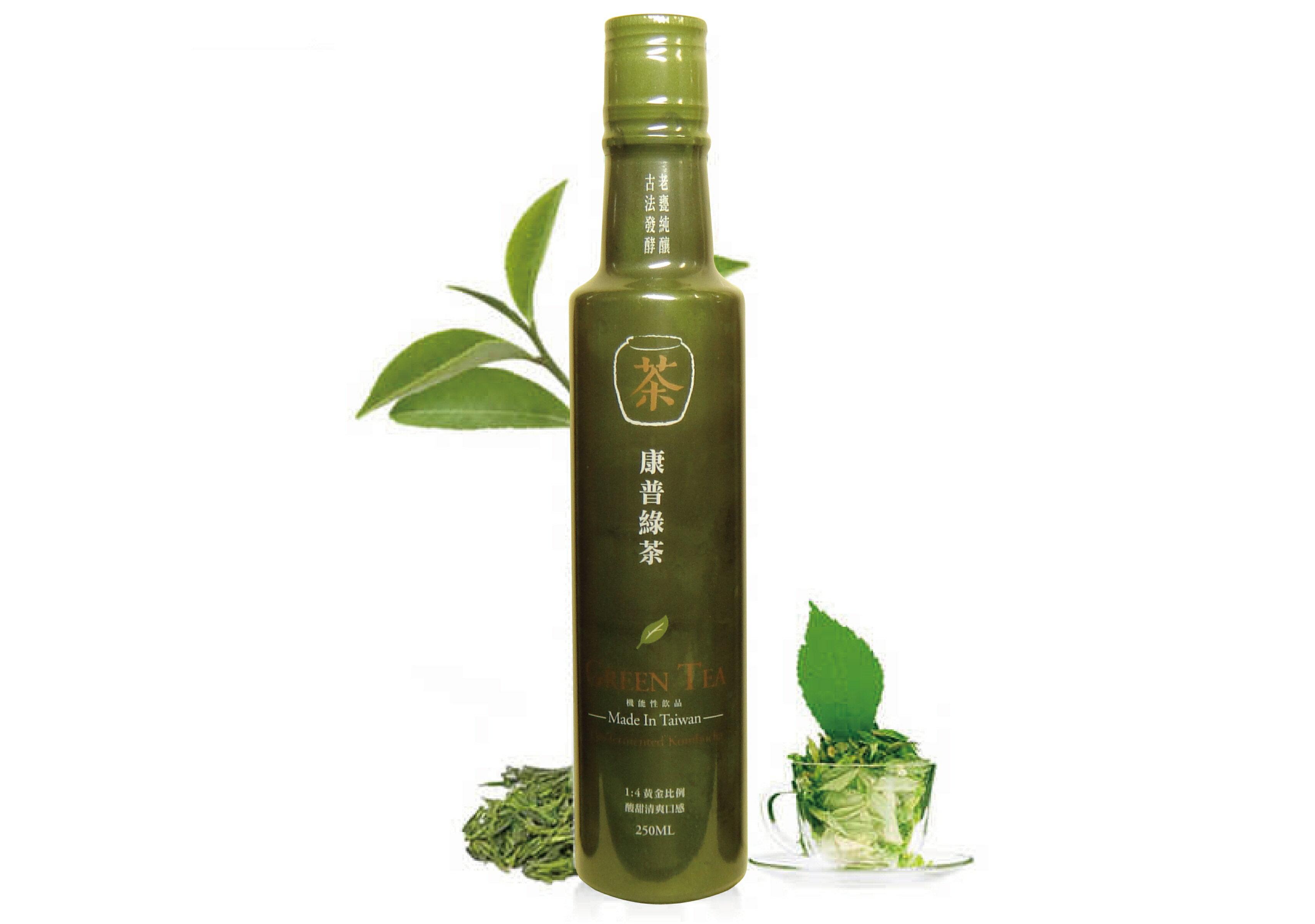 【釀美舖】康普綠茶醋( 純茶甕釀) 250ml / 瓶 1