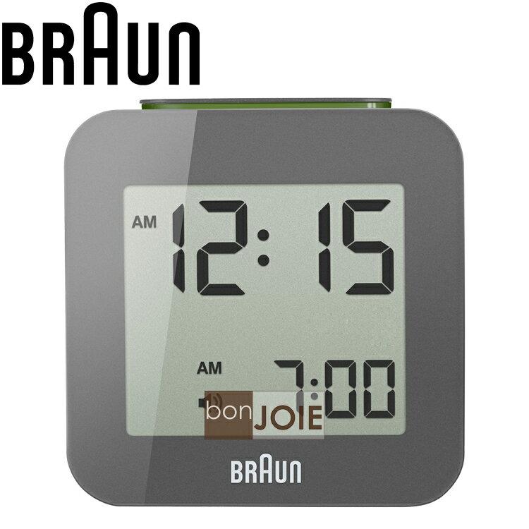 ::bonJOIE:: 美國進口 Braun BNC008 Alarm Clock 百靈數位鬧鐘 (灰色款)(全新盒裝) 博朗 時鐘 德國