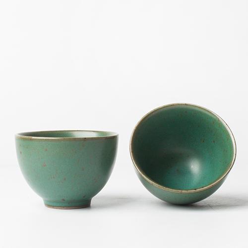 手工粗陶功夫茶杯品茗杯單杯聞香杯陶瓷茶具茶杯主人杯小茶杯茶碗1入