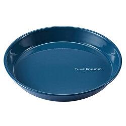 【【蘋果戶外】】Truvii 趣味 24cm 波斯藍 琺瑯盤 木柄琺瑯杯 木燈 營燈 台灣設計師作品 蜂蠟油 光罩 抗菌餐具