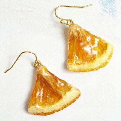 〔APM飾品〕 Gargle 法式情調糖漬柳橙片耳環  原味   巧克力沾醬   白巧克力