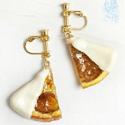 〔APM飾品〕 Gargle 法式情調糖漬柳橙片耳環  耳夾式   原味   巧克力沾醬