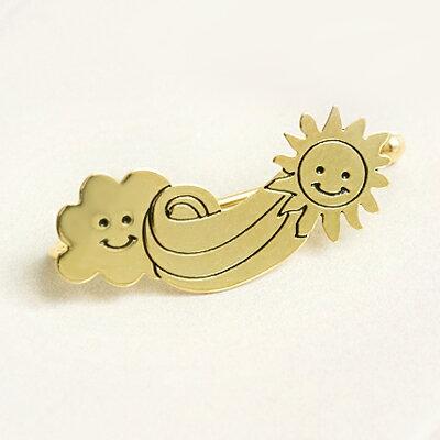 〔APM飾品〕 Gargle 北風與太陽:和煦光陰耳夾  金色系   銀色系