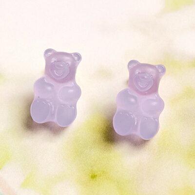 〔APM飾品〕 Gargle 美妙滋味熊熊軟糖耳環  含耳夾款   抗過敏   水蜜桃口味