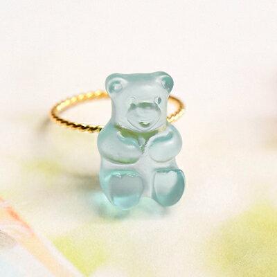 〔APM飾品〕日本Gargle 美妙滋味熊熊軟糖戒指 (水蜜桃口味) (薄荷口味) (薰衣草口味)