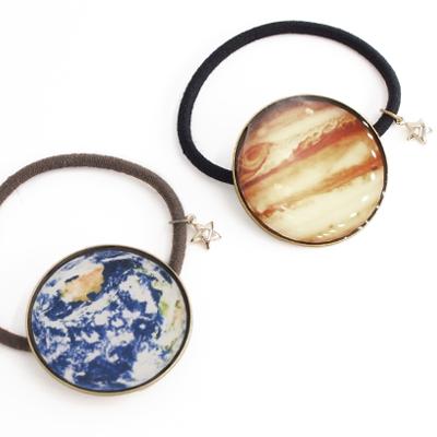 〔APM飾品〕 Gargle 萬物宇宙謎樣行星髮圈  地球   木星