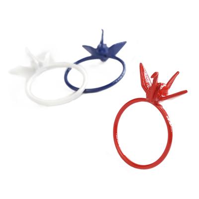 〔APM飾品〕 Gargle 文化之美:祈願祝福紙鶴戒指  白色款   藍色款   紅色款