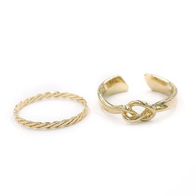 〔APM飾品〕日本Kaza 弦線之心光澤絲帶戒指組