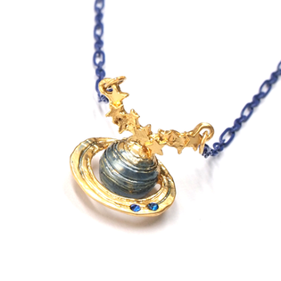 APM:〔APM飾品〕日本Palnartpoc星河奇蹟神秘土星項鍊