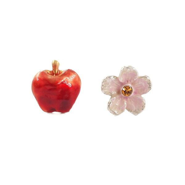 〔APM飾品〕日本Palnartpoc幸福綻放蘋果花耳環組(抗過敏)