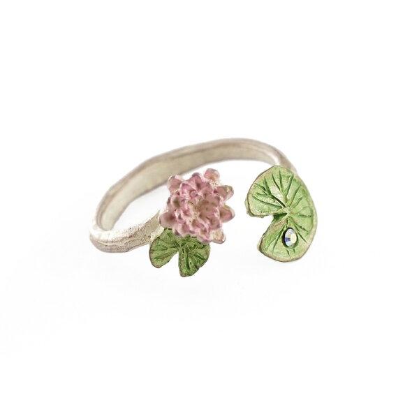 〔APM飾品〕日本Palnartpoc池塘精靈純潔睡蓮戒指