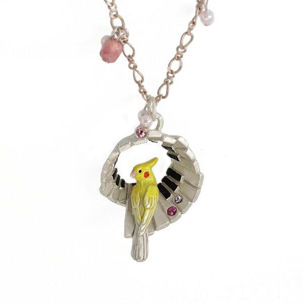 〔APM飾品〕日本Palnartpoc優美琴聲玄鳳鸚鵡項鍊