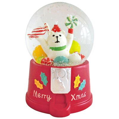 〔APM飾品〕溫馨團員歡樂聖誕派對-糖果派對水晶球 (聖誕老人) (北極熊)