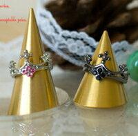 經典色澤華麗皇冠戒指