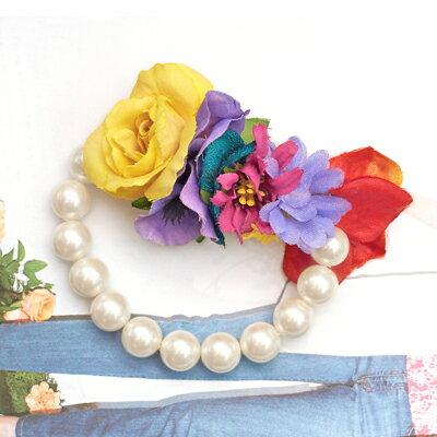 〔APM飾品〕 Gargle 和煦季節鮮嫩花叢手鍊