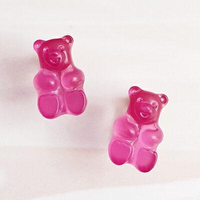 APM:〔APM飾品〕日本Gargle美妙滋味熊熊軟糖耳環(含耳夾款)(抗過敏)(蔓越莓口味)(檸檬口味)(葡萄口味)