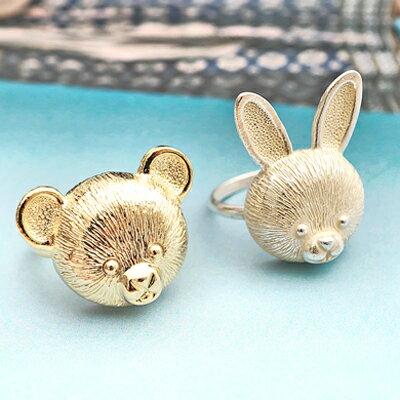 〔APM飾品〕日本Gargle小熊王子與兔子公主戒指(小熊)(兔子)