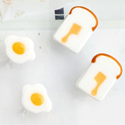 〔APM飾品〕 Gargle 歡愉時刻營養早餐耳環 ^(夾式^) ^(抗過敏^) ^(荷包