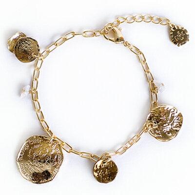 APM:〔APM飾品〕日本Kaza浪漫歐風復古硬幣搖曳手鍊