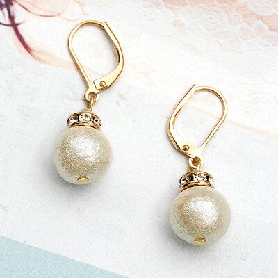 APM:〔APM飾品〕日本Kaza迷幻搖擺珍珠晶鑽耳環