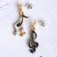 〔APM飾品〕日本BroughSuperior仙境之音美妙樂曲耳環