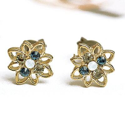 〔APM飾品〕日本Zoule 聖潔之光純淨花語耳環 (抗過敏)