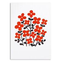 教師節禮物推薦到〔APM飾品〕red flowers 紅花Alexander Girard萬用問候卡 (M size)