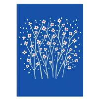 教師節禮物推薦到〔APM飾品〕blue flowers 碧藍花景Alexander Girard萬用問候卡 (M size)